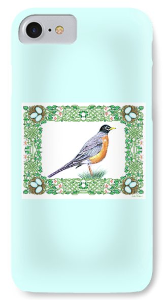 Robin In Spring IPhone Case