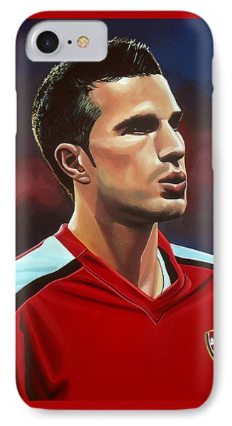 Robin Van Persie IPhone Case by Paul Meijering