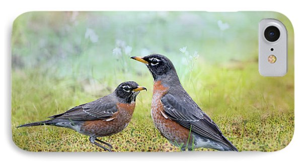 IPhone Case featuring the photograph Robins, Heralds Of Spring by Bonnie Barry