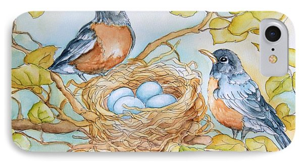 Robins Nest IPhone Case by Inese Poga