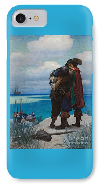 Robinson Crusoe Saved IPhone Case by Newell Convers Wyeth