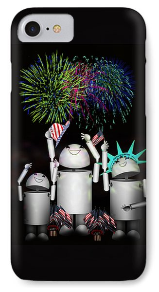 Robo-x9 And Family Celebrate Freedom IPhone Case