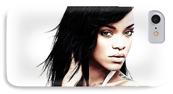 Robyn Rihanna Fenty IPhone 7 Case by The DigArtisT