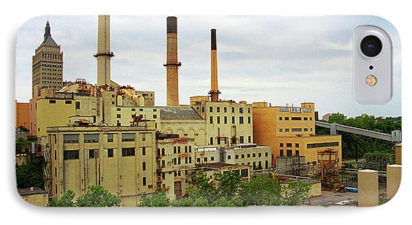 Rochester, Ny - Factory And Smokestacks 2005 IPhone Case by Frank Romeo