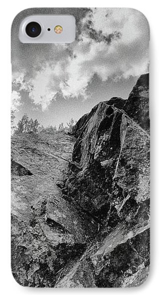 Rock #9542 Bw Version IPhone Case by Andrey Godyaykin