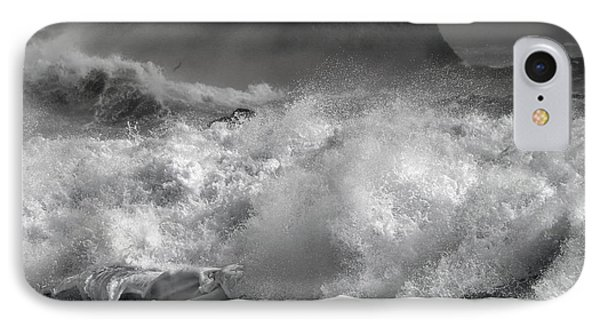 Rock And Roll Black Sand Beach Iceland IPhone Case