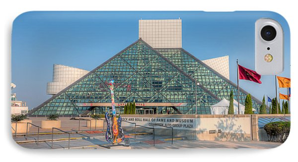 Rock And Roll Hall Of Fame I Phone Case by Clarence Holmes