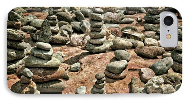 Rock Cairns At Buddha Beach - Sedona IPhone Case by Jennifer Rondinelli Reilly - Fine Art Photography