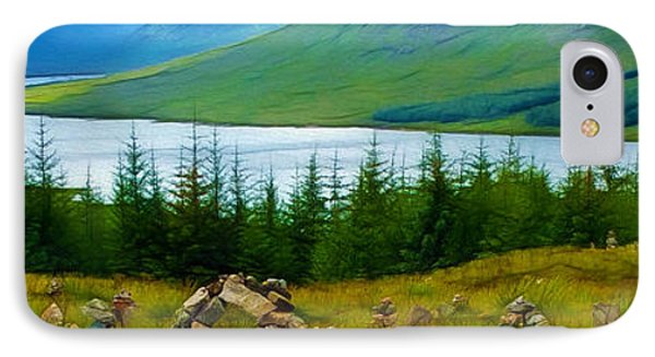 Rock Cairns In Scotland IPhone Case by Judi Bagwell
