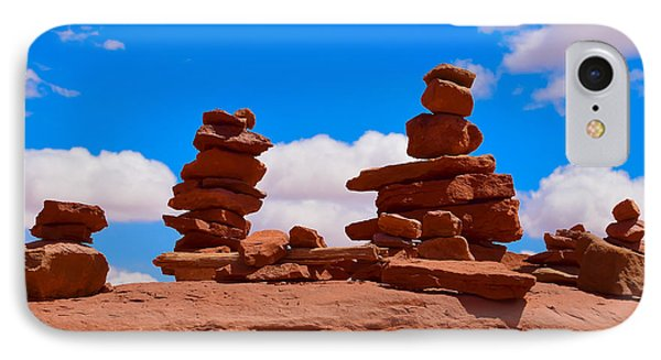 IPhone Case featuring the photograph Rock Cairns In The Desert by Dany Lison
