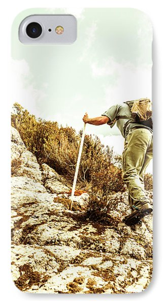 Rock Climbing Mountaineer IPhone Case by Jorgo Photography - Wall Art Gallery