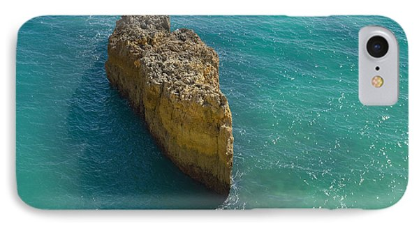 Rock Formation And The Sea In Algarve IPhone Case by Angelo DeVal