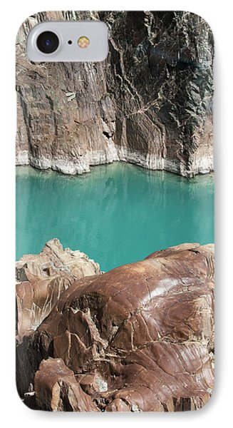 IPhone Case featuring the photograph Rock Formation Of Zanskar, Ladakh, 2009 by Hitendra SINKAR