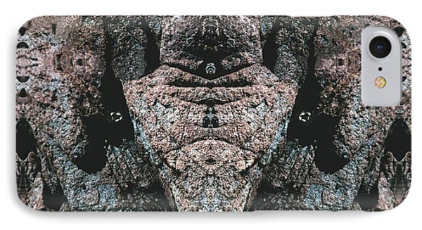 IPhone Case featuring the digital art Rock Gods Elephant Stonemen Of Ogunquit by Nancy Griswold