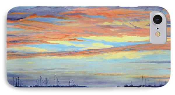 Rock Hall Sunset Phone Case by Cindy Roesinger