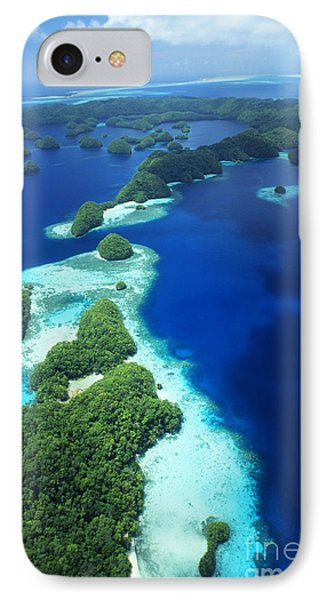 Rock Islands Aerial Phone Case by Allan Seiden - Printscapes