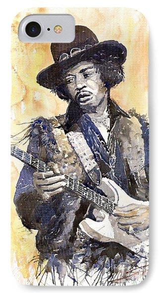 Rock Jimi Hendrix 01 Phone Case by Yuriy  Shevchuk