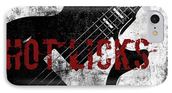 Rock N Roll Guitar IPhone Case by Mindy Sommers