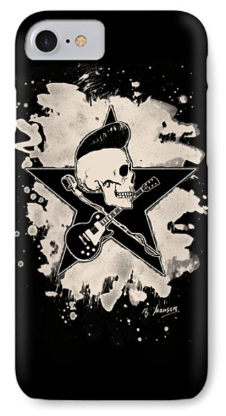 Rock-n-roll Skull - Bleached IPhone Case