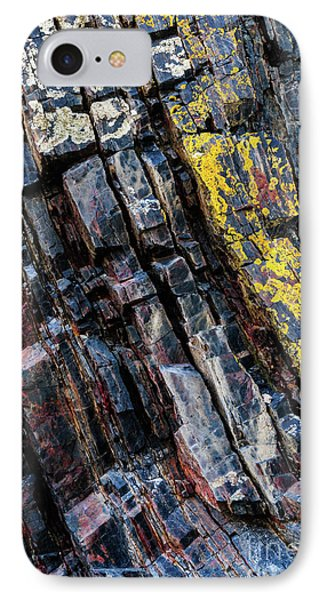 IPhone Case featuring the photograph Rock Pattern Sc02 by Werner Padarin