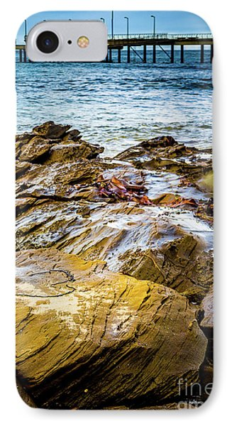 IPhone Case featuring the photograph Rock Pier by Perry Webster