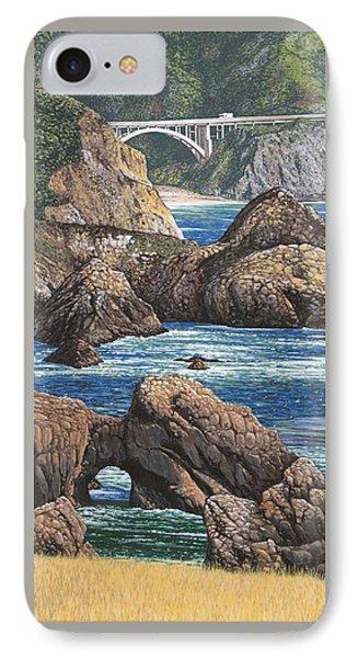 Rock Point Bridge Big Sur IPhone Case by Andrew Palmer