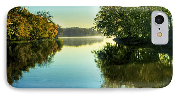 Rock River Autumn Morning IPhone Case