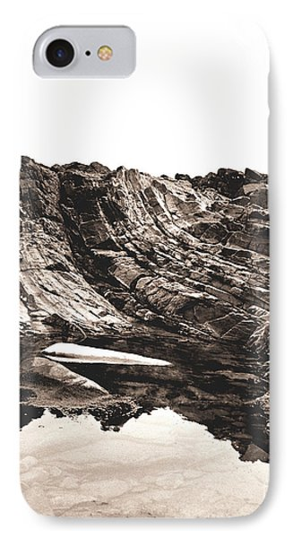 IPhone Case featuring the photograph Rock - Sepia Detail by Rebecca Harman