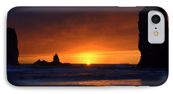 Rock Sunset IPhone Case by Jerry Cahill