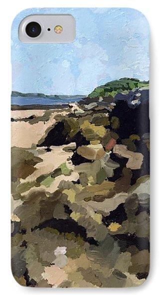 Rock Wall Looking South On Ten Pound Island, Gloucester, Ma IPhone Case