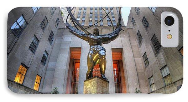 Rockefeller Centre Atlas - Nyc - Vertorama IPhone Case by Yhun Suarez