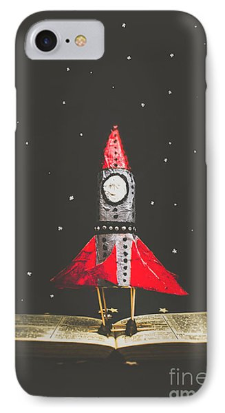 Rockets And Cartoon Puzzle Star Dust IPhone Case