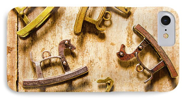 Rocking Horses Art IPhone Case by Jorgo Photography - Wall Art Gallery