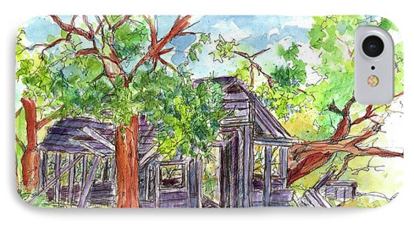 IPhone Case featuring the painting Rockland Cabin by Cathie Richardson