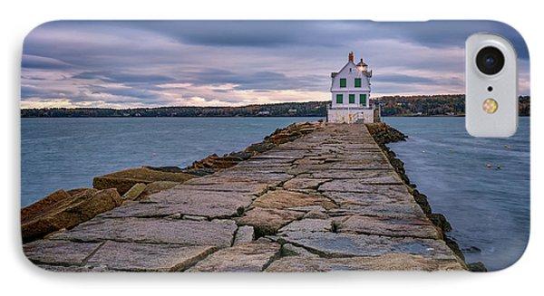 Rockland Harbor Breakwater Light IPhone Case by Rick Berk