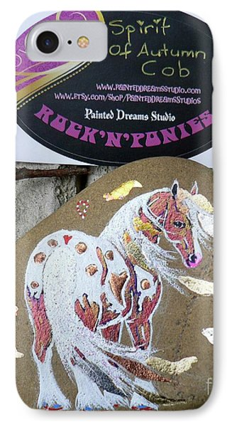 Rock'n'ponies - Spirit Of Autumn Cob Phone Case by Louise Green