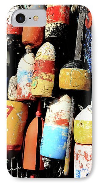 Rockport Buoys IPhone Case by Lou Ford