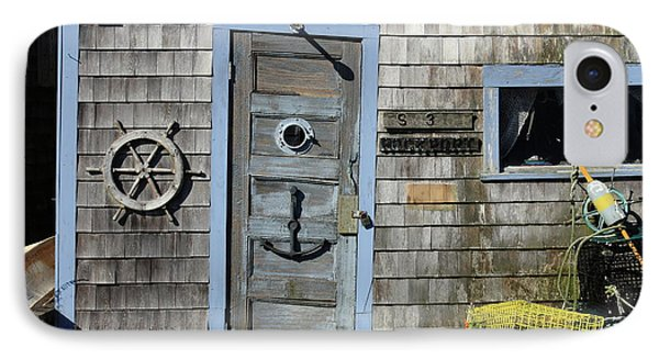 Rockport Fishing Shack IPhone Case by Lou Ford