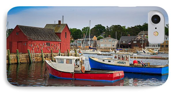 Rockport Harbor 2 IPhone Case by Emmanuel Panagiotakis