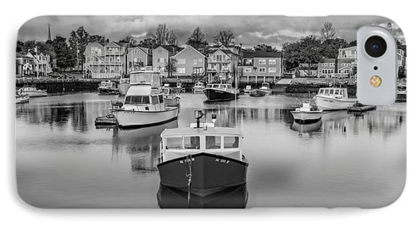 Rockport Harbor Bw IPhone Case by Susan Candelario
