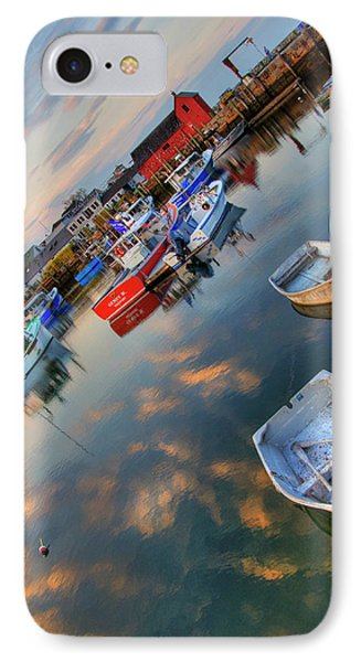 IPhone Case featuring the photograph Rockport Harbor Motif #1  by Joann Vitali