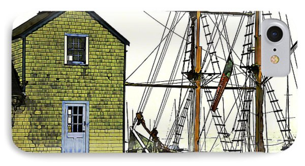 IPhone Case featuring the photograph Rockport Harbor by Tom Cameron