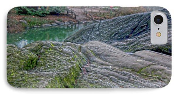 Rocks At Central Park IPhone Case by Sandy Moulder