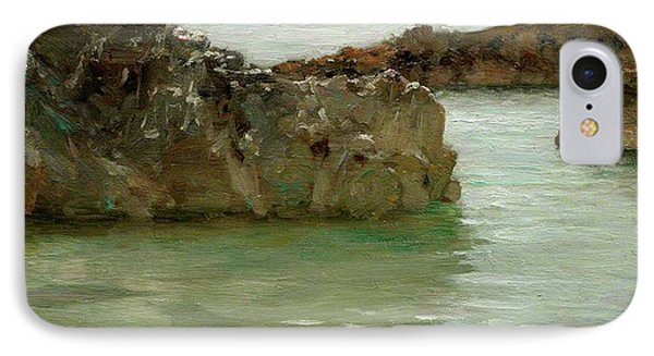 IPhone Case featuring the painting Rocks At Newport by Henry Scott Tuke