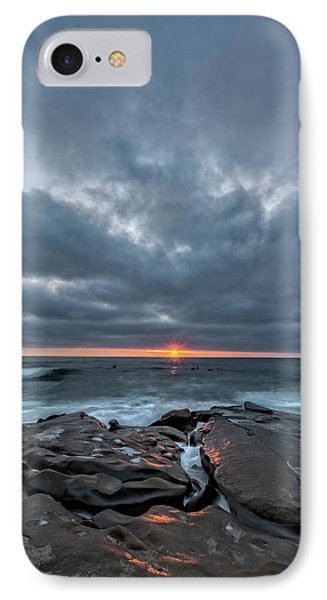 Rocks On Fire IPhone Case by Peter Tellone