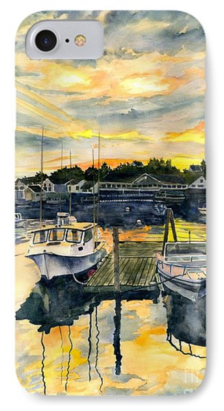 Rocktide Sunset IPhone Case by Melly Terpening