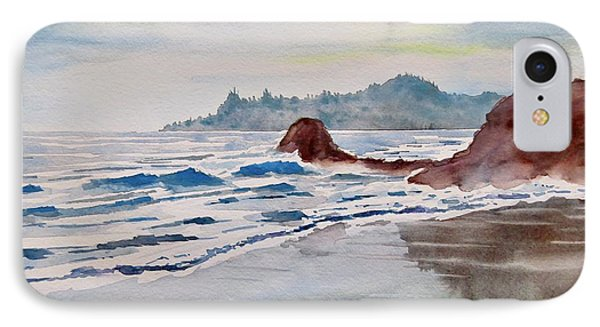 IPhone Case featuring the painting Rocky Beach by Geni Gorani
