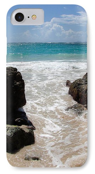 IPhone Case featuring the photograph Rocky Beach In The Caribbean by Margaret Bobb