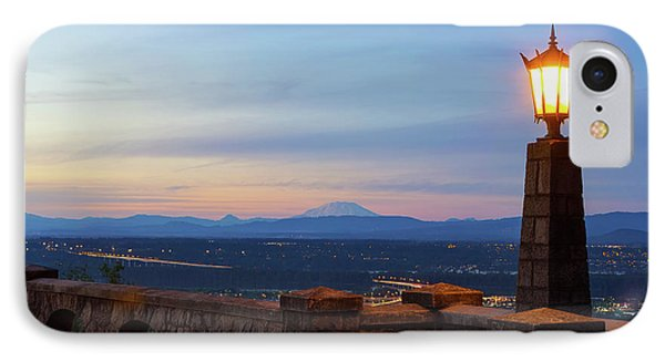 Rocky Butte Viewpoint At Sunset Phone Case by David Gn