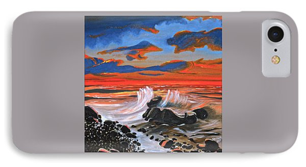 IPhone Case featuring the painting Rocky Cove by Donna Blossom